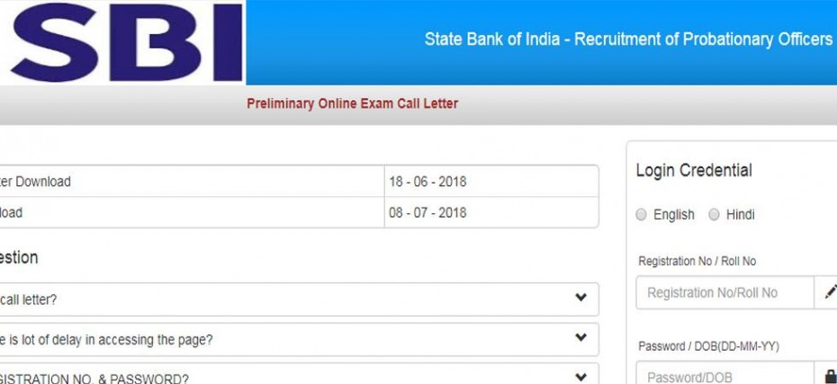 sbi admit card for bank po 2014